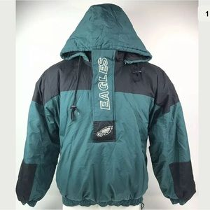 Vtg Philadelphia Eagles Starter Pullover Jacket
